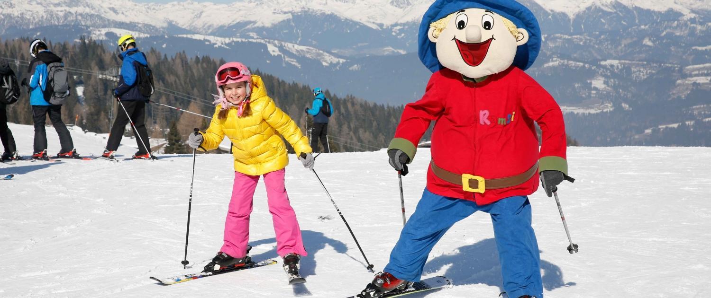 Familien Skiurlaub auf der Sonnenseite der Alpen