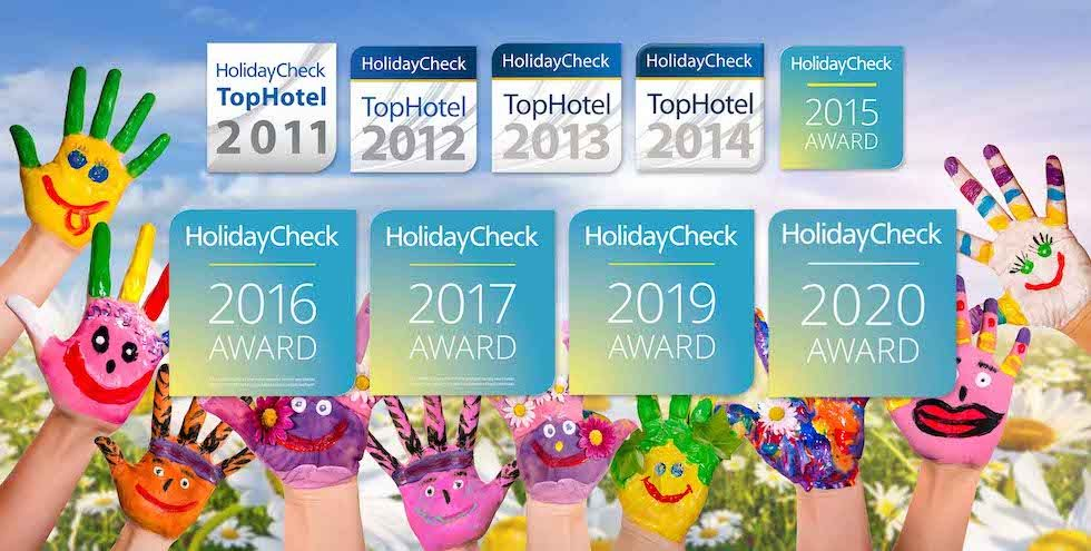 Awarded the HolidayCheck Award nine times from 2011 to 2020