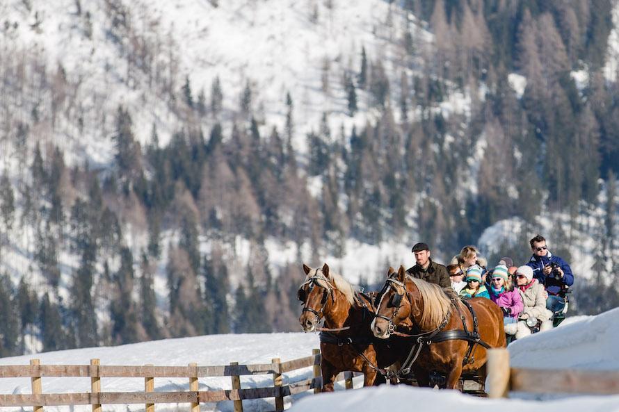 Pferdeschlittenfahrten Kinderhotel Ramsi