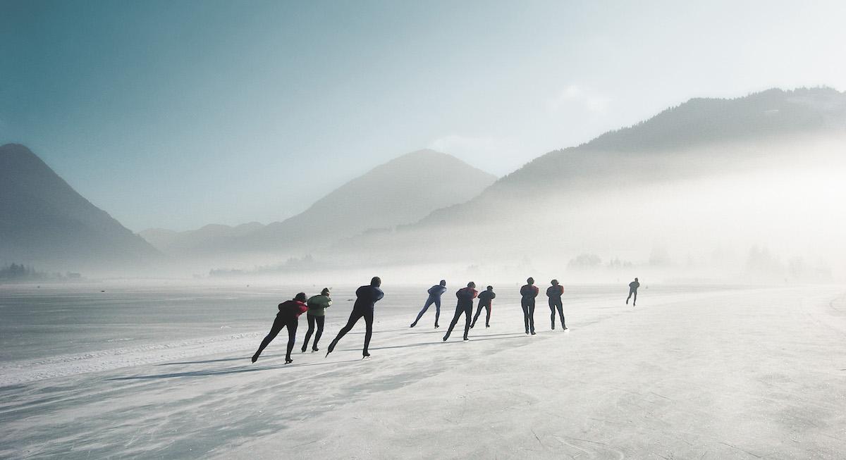 Familienurlaub Kinderhotel Ramsi Weissensee Eislaufen