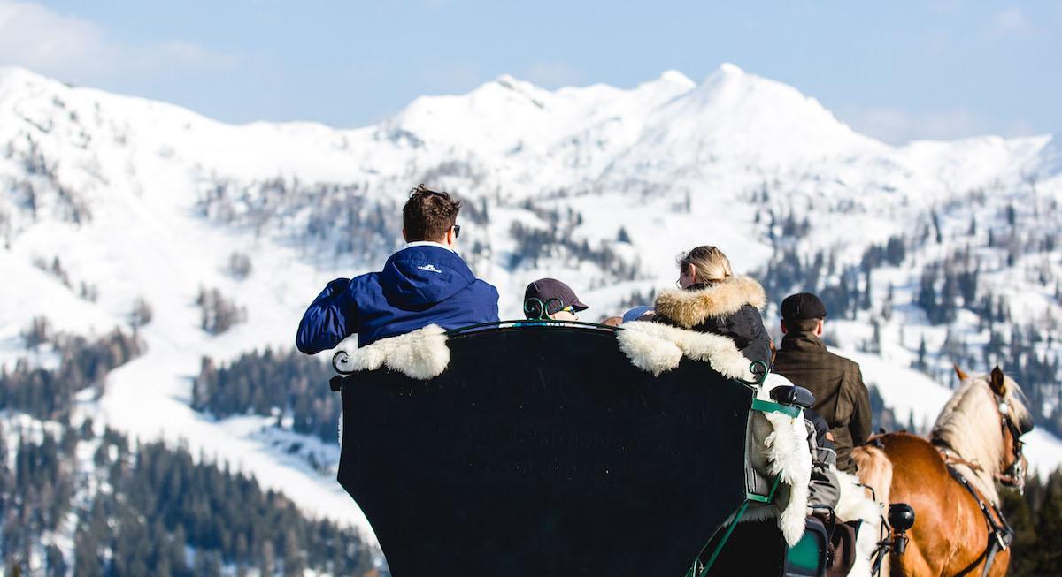 Familienurlaub Kinderhotel Ramsi Pferdeschlitten